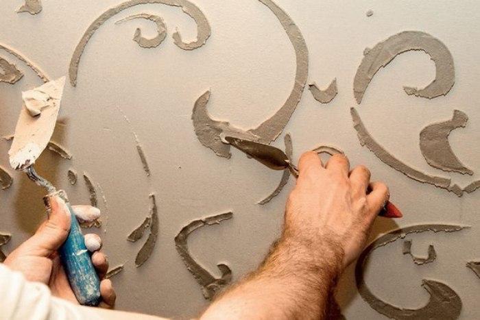 Как сделать стены объемными
