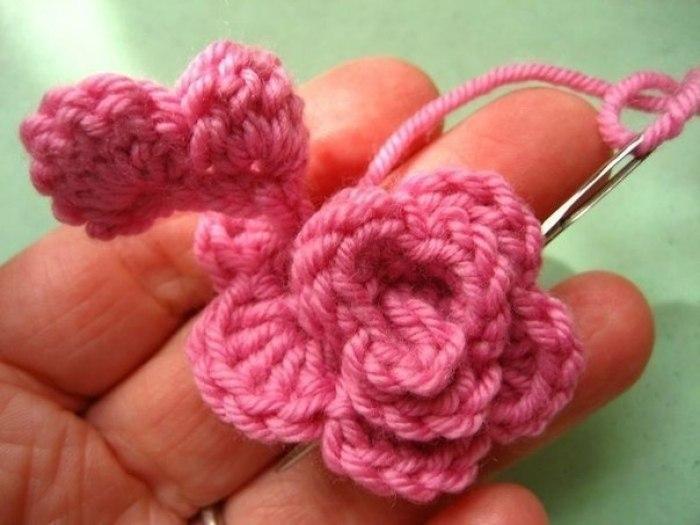 Вязание красивый коврик
