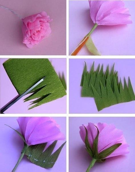 Как сделать своими руками цветы из гофрированной бумаги своими руками