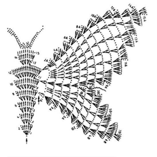 Бабочки связанные крючком их схемы и описания