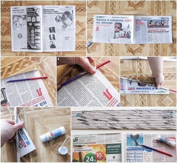 Как сделать корзинку из газет и