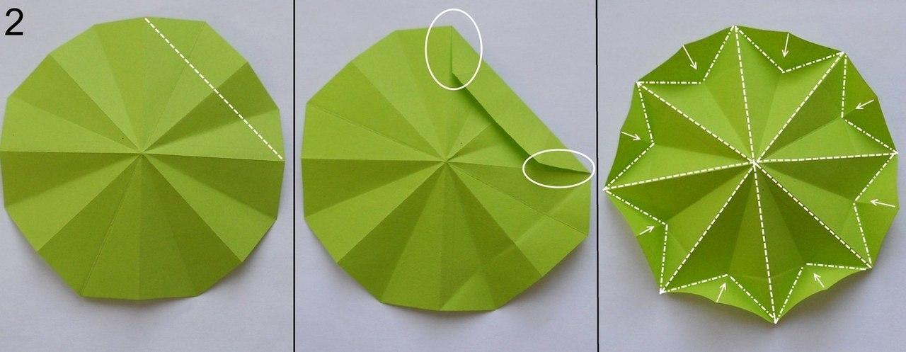 Елочка. Оригами. Готовимся к Новому году.
