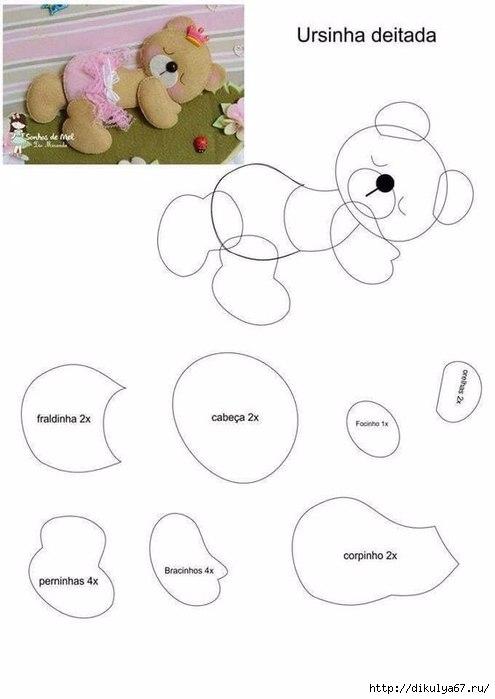 Как сделать своими руками мишку из фетра