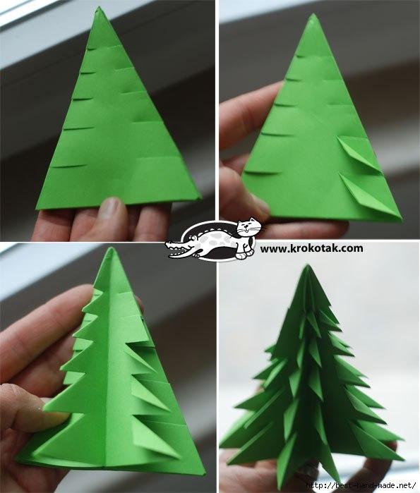 Пошаговая елка оригами своими