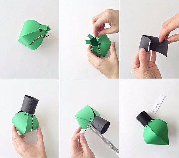 Как сделать фонарики из бумаги своими руками поэтапно 56