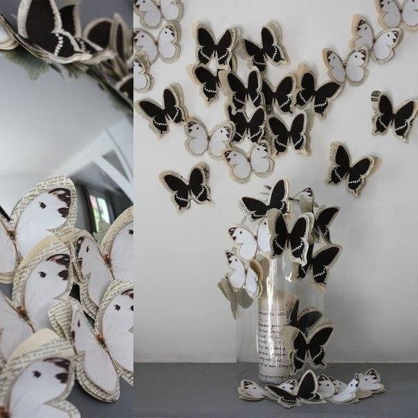 Декор как сделать бабочек на стену