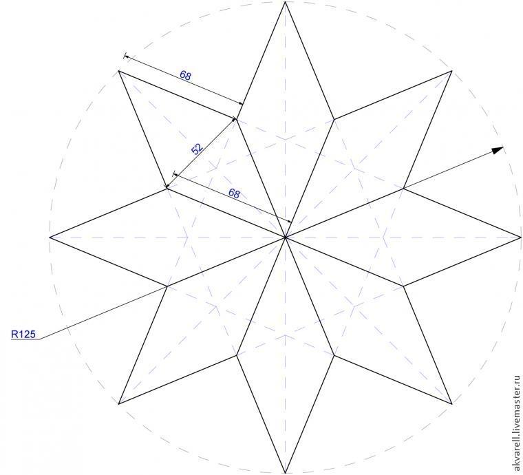 Восьмиугольная звезда как сделать