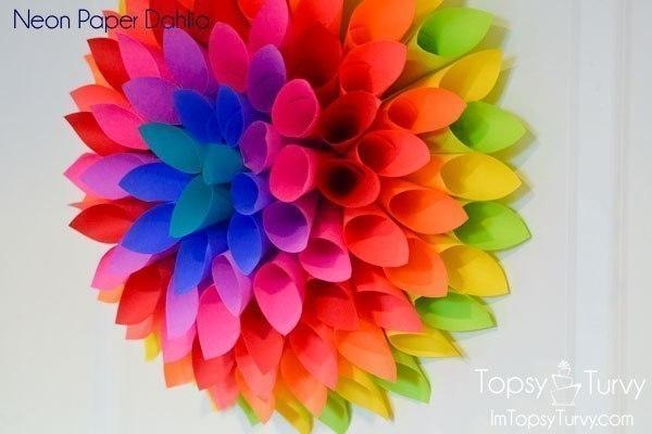 Как сделать объемный цветок схема 567