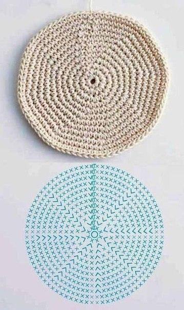 Вязание крючком круги цветы