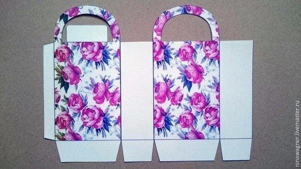 Как сделать подарочную сумочку из бумаги своими руками 16