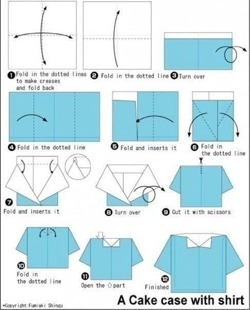 Рубашка для открытки из бумаги