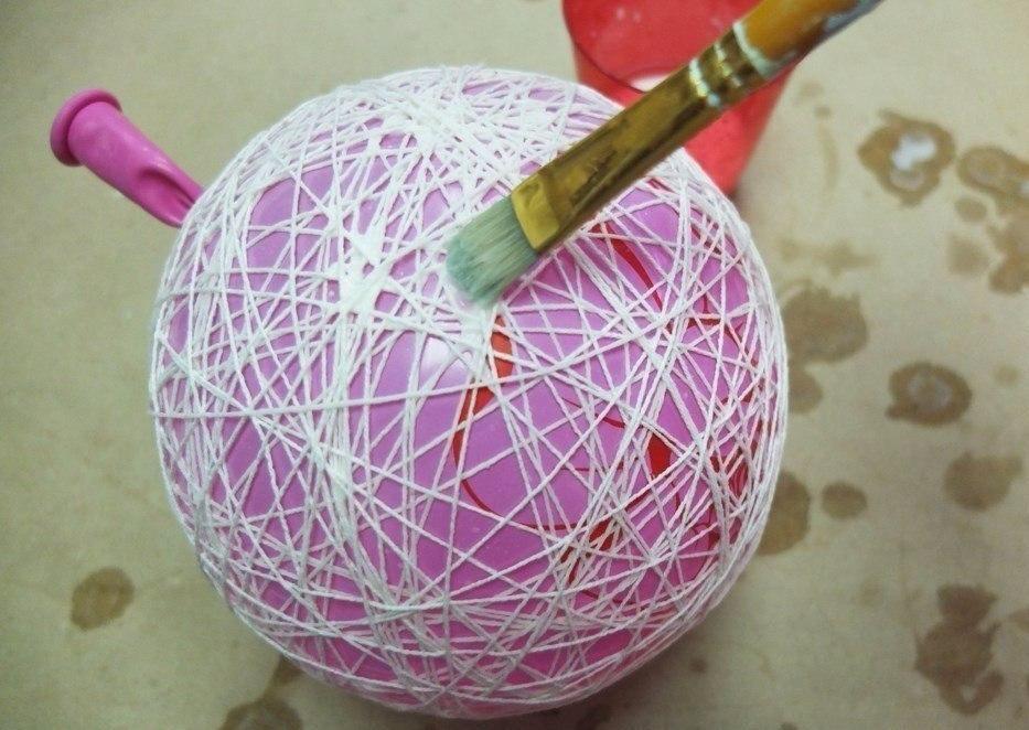 Поделки из ниток и клея техника - Поделки из ниток и клея или что можно сделать из остатков пряжи