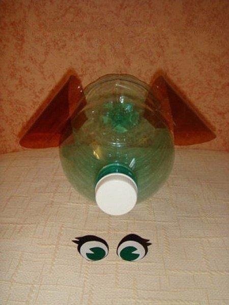 Как сделать поросят из бутылок пошаговая инструкция с