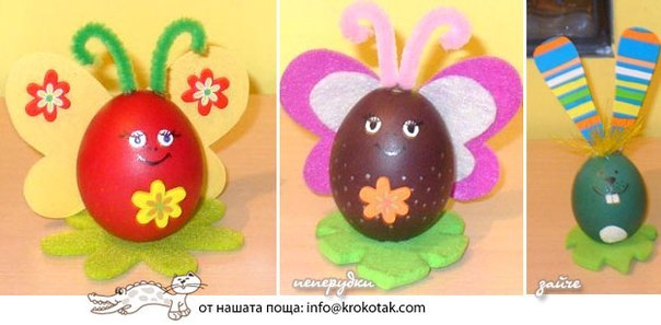 Поделки на пасху из яйца своими руками