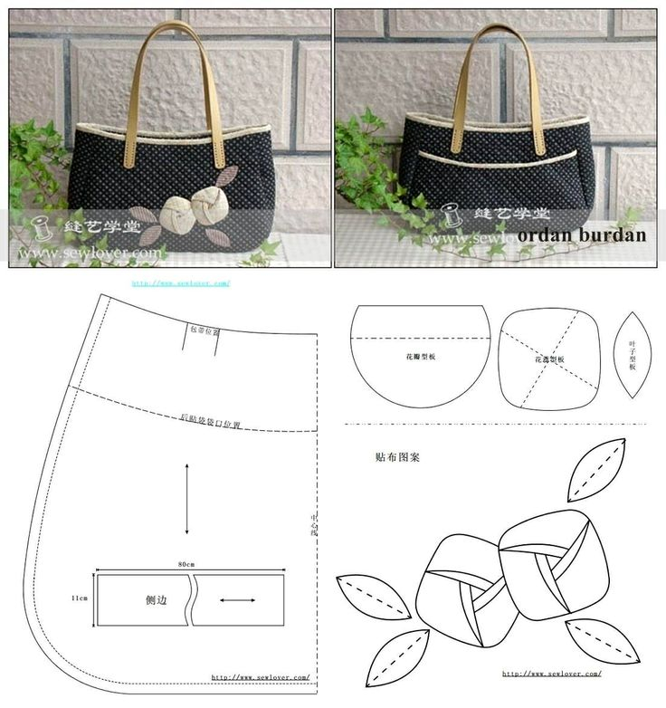 Выкройки стильных сумок своими руками 94