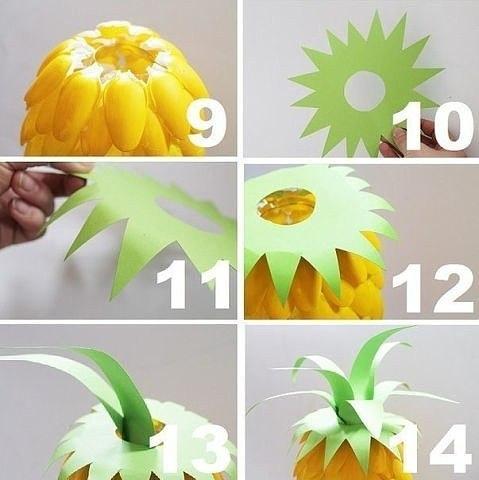 Своими руками светильник из ананасами