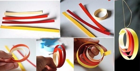 игрушки из бумажных полосок картинки