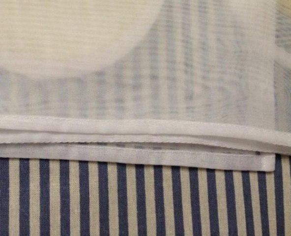 Как подшить низ тюли в домашних условиях