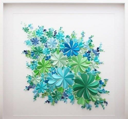 Картины из цветов бумажных своими руками