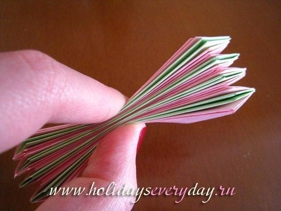 Цветы из бумаги оригами мастер класс