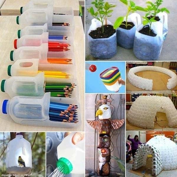 Всё из пластиковых бутылок для дома своими руками фото