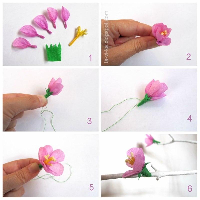 Как сделать цветы сакуры