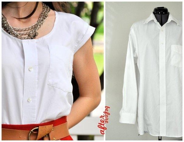 Из рубашки сделать блузку