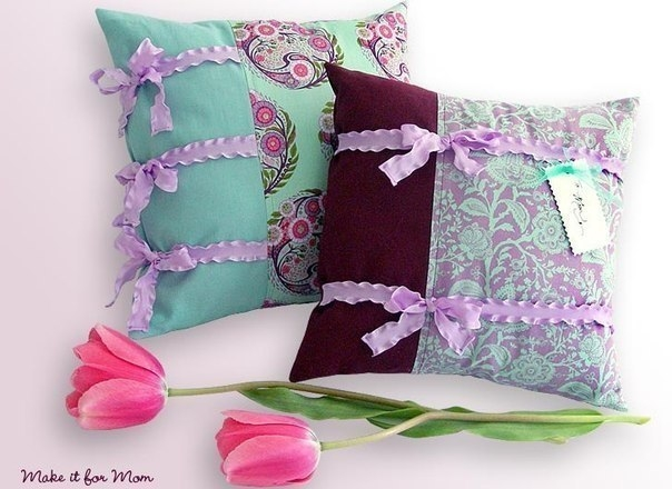 Как сшить красивую подушку руками