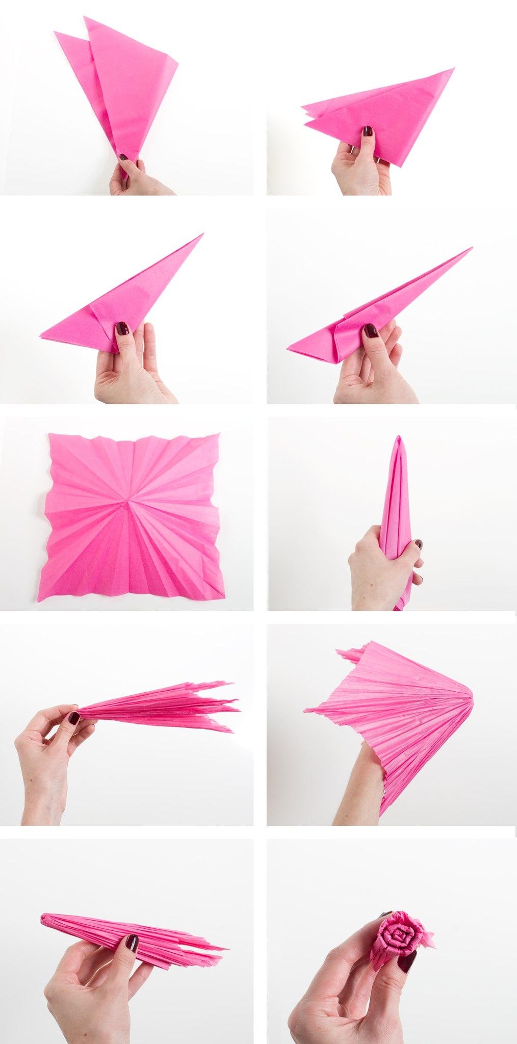 Гвоздика из бумаги своими руками поэтапно фото