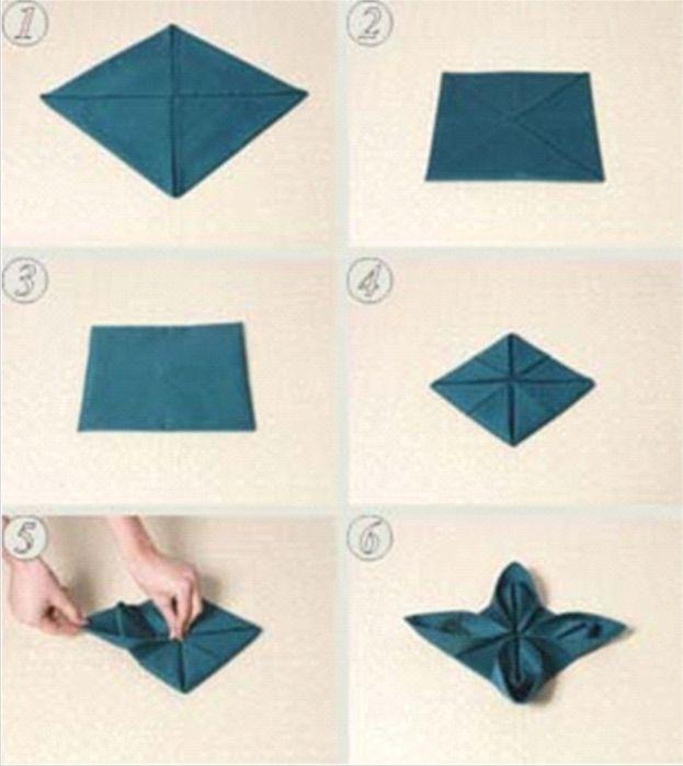 как красиво оформить салфетки бумажные к столу приеме гражданина
