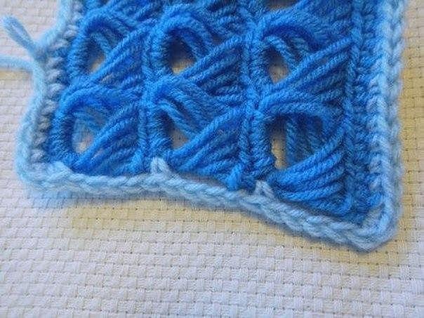 ажурный снуд перуанское вязание
