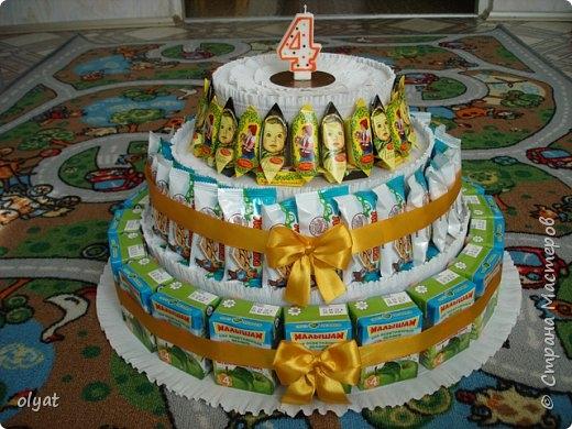 Торт из сладостей в сад своими руками