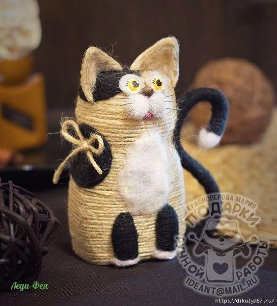 Кошка из джута 5