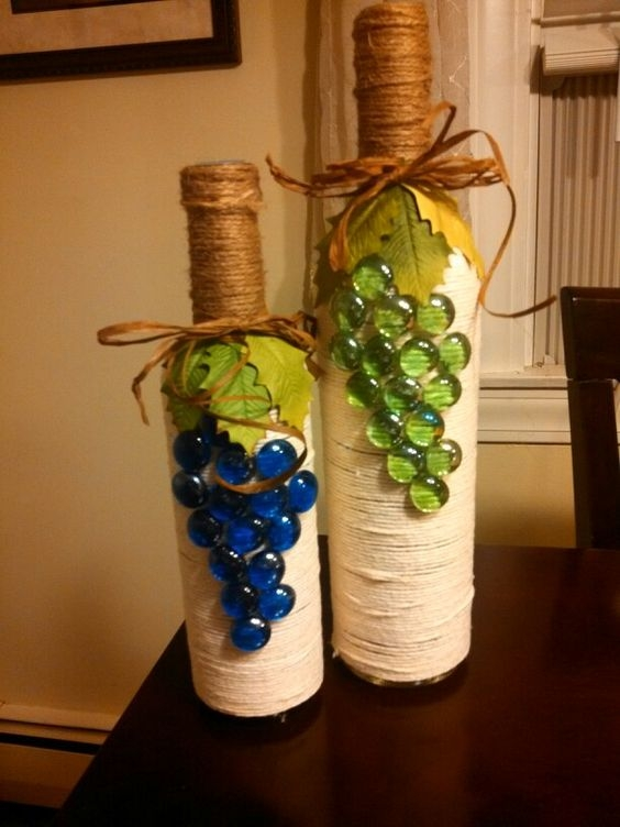 Украсить бутылку с вином своими руками 3