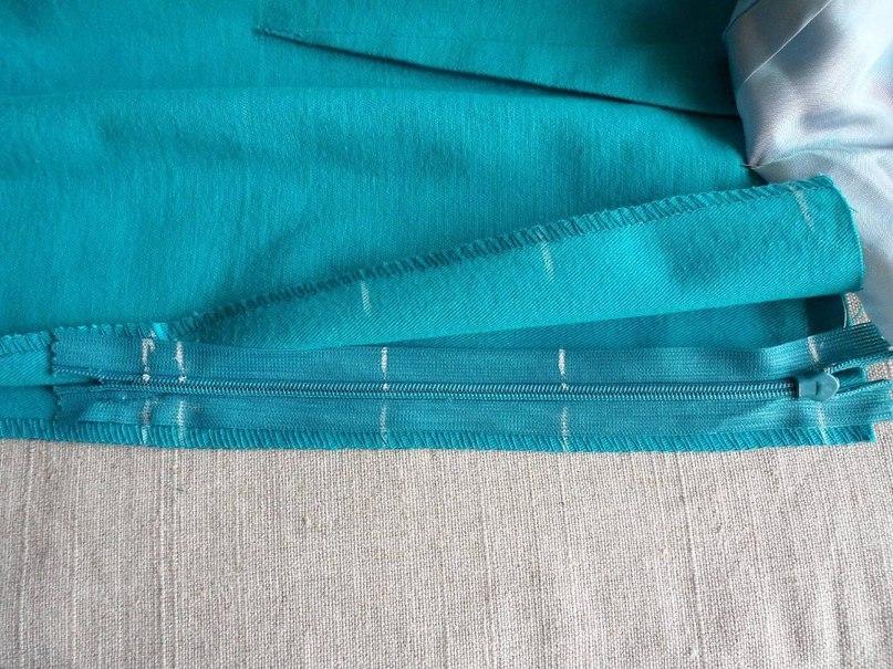 Как в юбку вшить потайную молнию с поясом и без: пошаговая 84