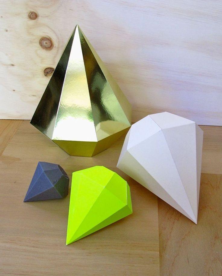 Как сделать из бумаги кристаллики 51
