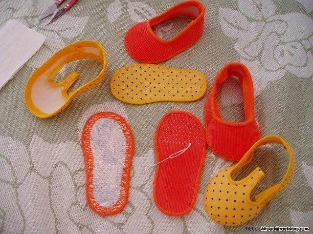 Обувь из фетра для кукол