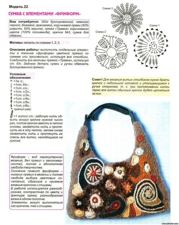 Вязаная сумочка со схемой 7