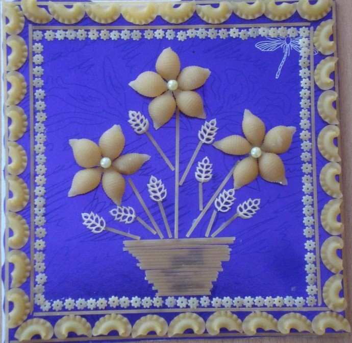 Рисунки из макарон своими руками