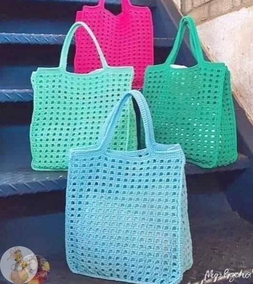 Вязаные сумки вместо одноразовых пакетов