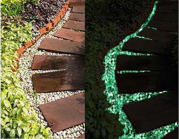 Использование флуоресцентных красок в декоре сада 4