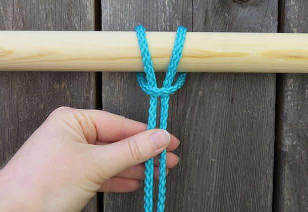 Плетеный гамак для дачи или балкона 3