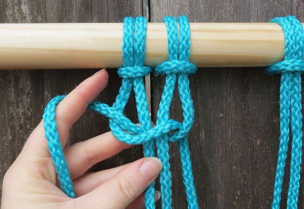 Плетеный гамак для дачи или балкона 5