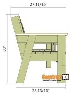 Скамеечка на двоих с удобным столиком посередине