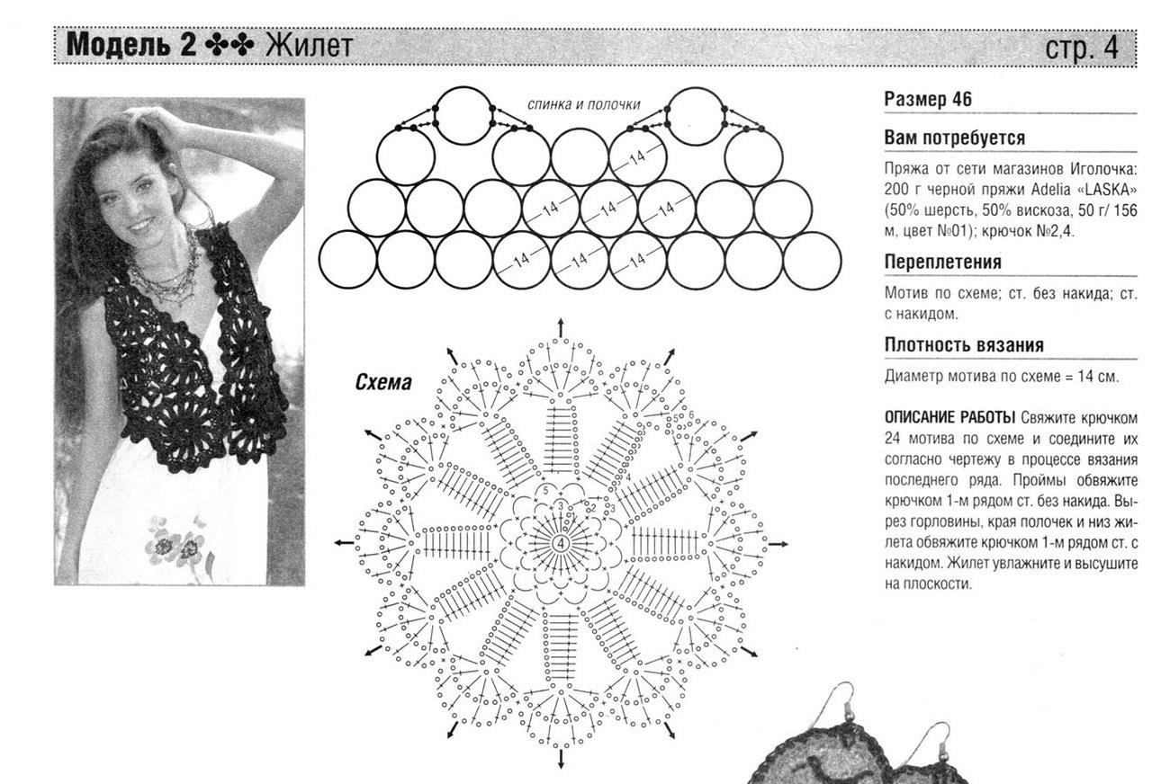 Роскошная подборка летних моделей крючком со схемами вязания 4