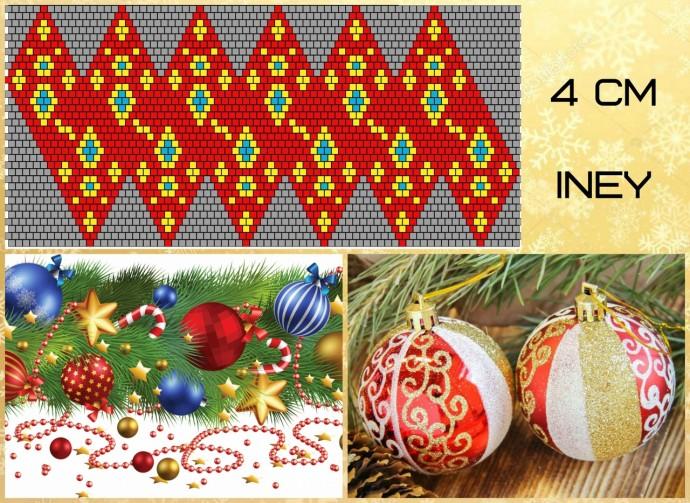 Подготовка к Новому году: расшиваем бисером шары