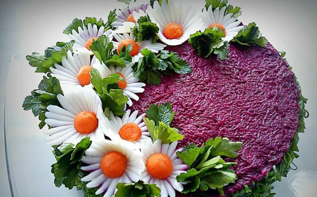 Как украсить салаты своими руками фото пошагово