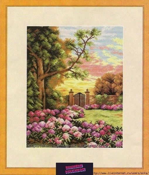 Вышиваем крестиком летний пейзаж