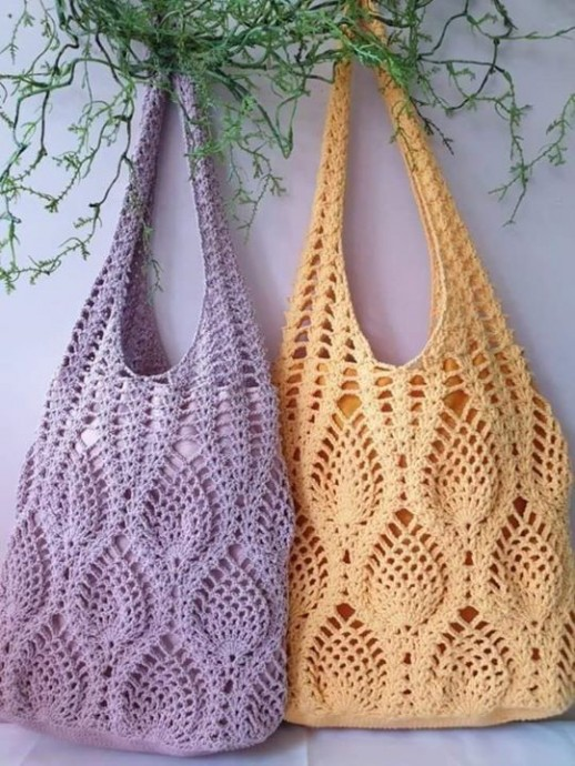Экологичная сумка для шопинга крючком
