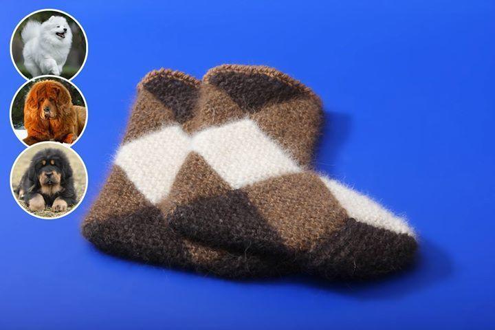 Интересная техника вязания теплых носочков из квадратов 7